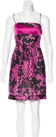 Armani Collezioni Printed Textured Dress