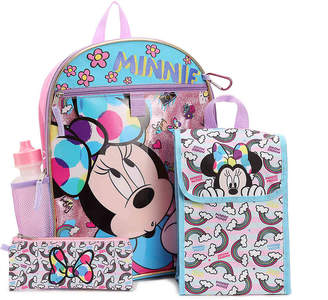 Fast Forward Minnie Mouse 5-Piece Backpack Set - Girl's