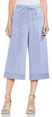 Vince Camuto Tie Front Stripe Culottes
