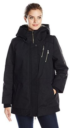 DKNY Jeans Women's Cocoon Coat with Faux Fur Lined Hood $147.41 thestylecure.com