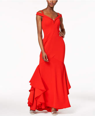 Xscape Evenings Off-The-Shoulder Mermaid Gown