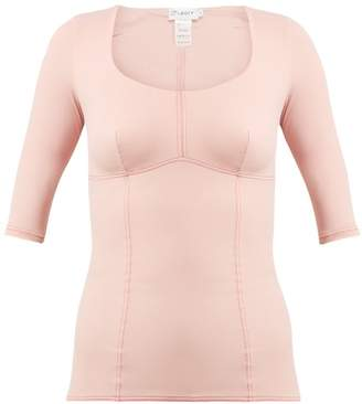 Ernest Leoty - Ines Topstitched Performance Top - Womens - Pink