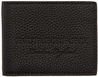 Burberry Black Soft Hipfold Wallet