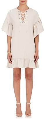 Ulla Johnson WOMEN'S MARIANNE TWILL LACE-UP SHIFT DRESS