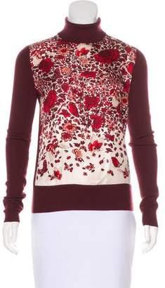 Tory Burch Wool Floral Print Top