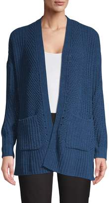 Style&Co. Style & Co. Open-Front Chenille Cardigan