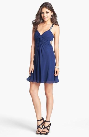 Faviana Beaded Chiffon Dress