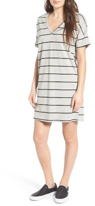 Women's Lush V-Neck Tee Dress $42 thestylecure.com