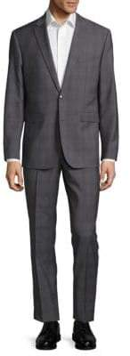 Vince Camuto Slim-Fit Plaid Wool Suit