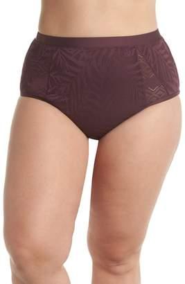 Jessica Simpson Crochet Inset High Waist Bikini Bottoms