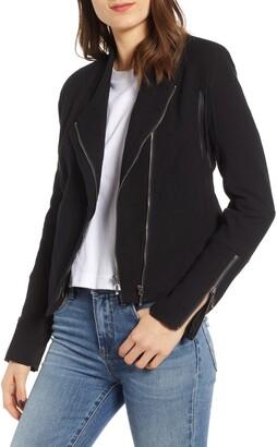 Blank NYC BLANKNYC Mesh Detail Crepe Jacket