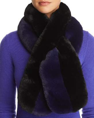 Echo Color-Block Faux Fur Scarf