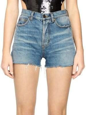 Saint Laurent Slim Fit Denim Shorts