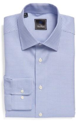 Men's David Donahue Regular Fit Check Dress Shirt $135 thestylecure.com