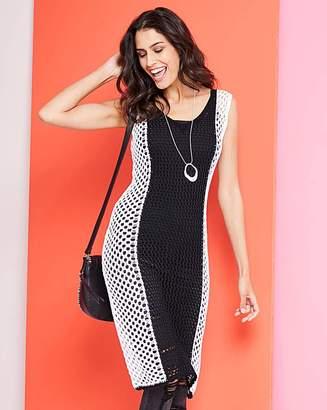 Shopstyle Contrast Uk And Black White Dress zwCazTq