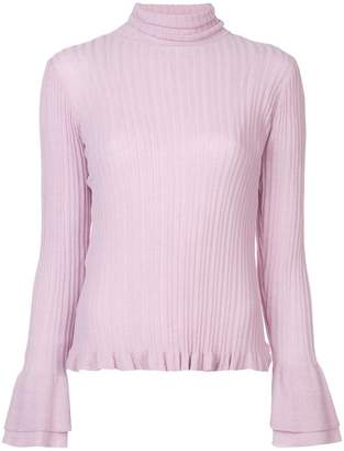 Cinq à Sept ribbed knit flared sleeve sweater