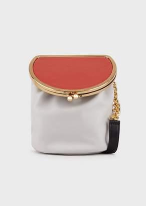 Emporio Armani Faux Nappa Leather Shoulder Bag