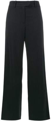 Mira Mikati Glitter pinstripe wide-leg trousers