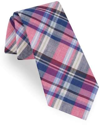Ted Baker Plaid Cotton & Linen Tie