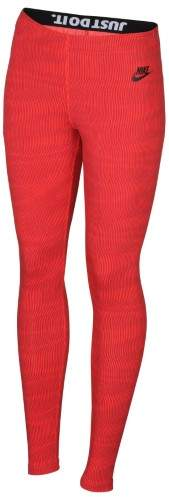 Nike Women's Leg A See Allover Print Leggings-Red-Large