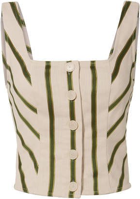 Intermix Mirella Striped Bustier