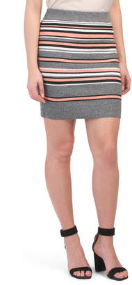 Juniors Australian Brand Striped Bodycon Skirt