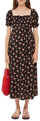 Topshop MATERNITY Floral Shirred Maxi Dress