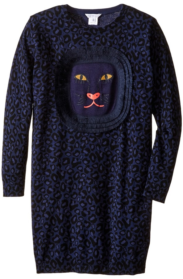 Little Marc Jacobs Little Marc Jacobs Knitted Leopard Frange Style All Over Printed Dress (Little Kids/Big Kids)