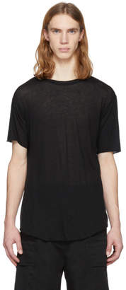 Song For The Mute Black Shoulder Seam T-Shirt