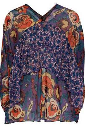 Anna Sui Ruffled Silk-Chiffon Blouse