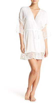 Jonquil In Bloom by Lace Panel Wrap Robe