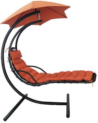 Red Barrel Studio Cano Polyester Hanging Chaise Lounger with Stand