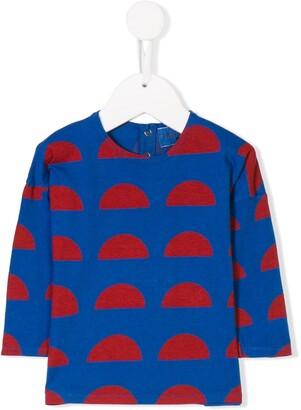 Bobo Choses geometric colour-block top