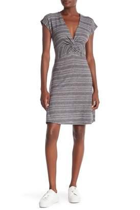 Abound Cozy Knot Front Tie Print Dress
