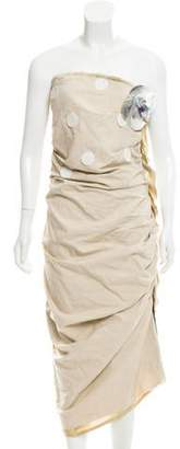 Lanvin Embellished Strapless Dress w/ Tags