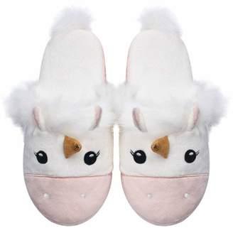 c969b872db44 Millffy Unicorn Plush Slippers Women Animal Cartoon Comfy Cute Warm  Lightweight Home Indoor (US 7