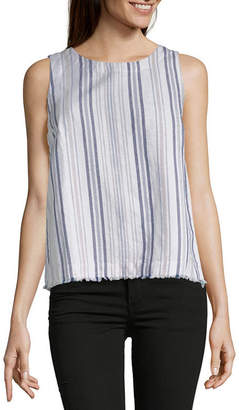 Liz Claiborne Womens Crew Neck Sleeveless Shells