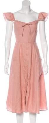 Reformation Short Sleeve Midi Dress