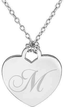 FINE JEWELRY Personalized Sterling Silver Initial Heart Pendant Necklace