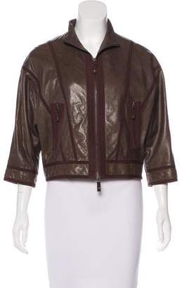 Andrew Gn Leather Zip-Up Jacket