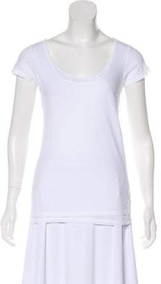 Vince Semi-Sheer Short Sleeve Top