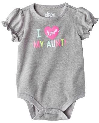 Circo Girls' Love My Aunt Bodysuit - Grey