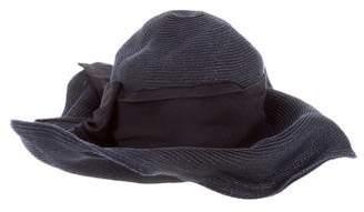Giorgio Armani Raffia Wide-Brim Hat