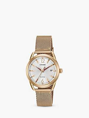 Citizen Women's LTR Date Mesh Bracelet Strap Watch
