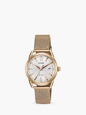 Citizen Women's LTR Date Mesh Bracelet Strap Watch