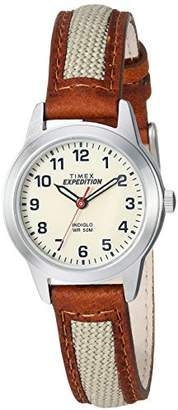 Timex Women's TW4B11900 Expedition Field Mini Nylon/Leather Strap Watch