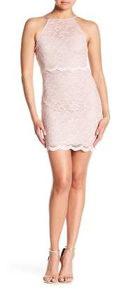 Jump Glitter Lace Bodycon Dress