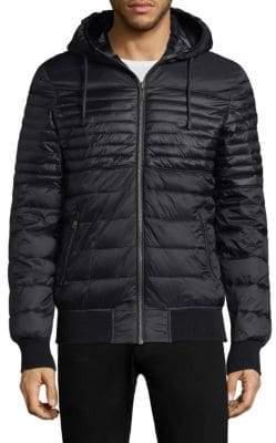 Moose Knuckles Men's Terranova Hooded Jacket - Black Noir - Size Small