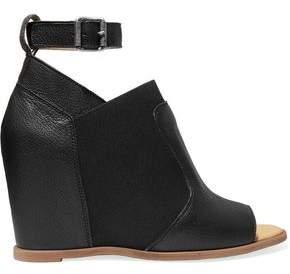 Maison Margiela Leather Wedge Sandals