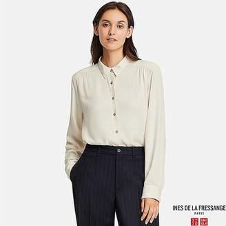 Uniqlo Women's Rayon Long-sleeve Blouse (ines De La Fressange)